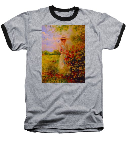 Baseball T-Shirt featuring the painting This Is A Good View by Emery Franklin