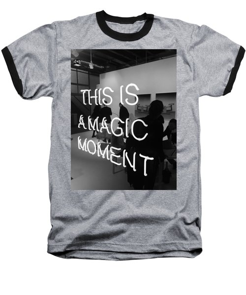 This Is A Magic Moment Baseball T-Shirt by Funkpix Photo Hunter
