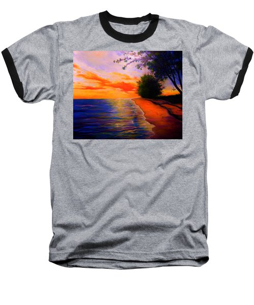 Baseball T-Shirt featuring the painting This Is Living by Emery Franklin