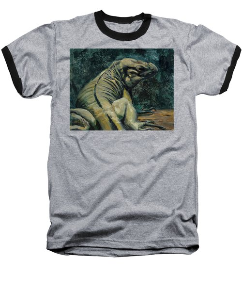 Baseball T-Shirt featuring the painting This Is My Good Side by Billie Colson