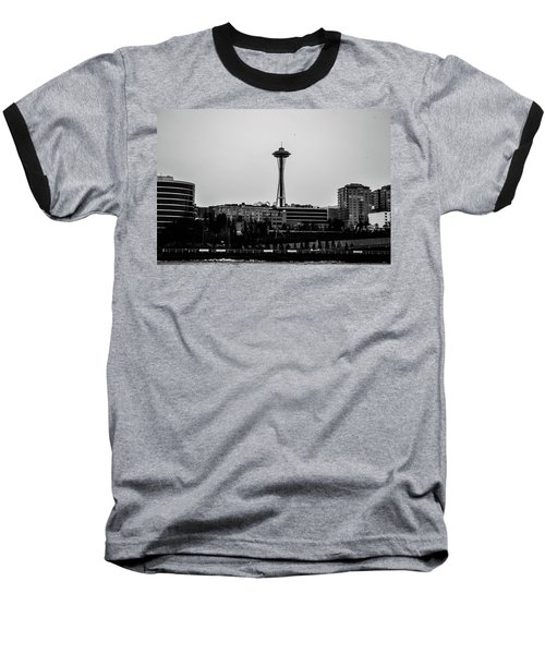 This Is Seattle Black And White Baseball T-Shirt