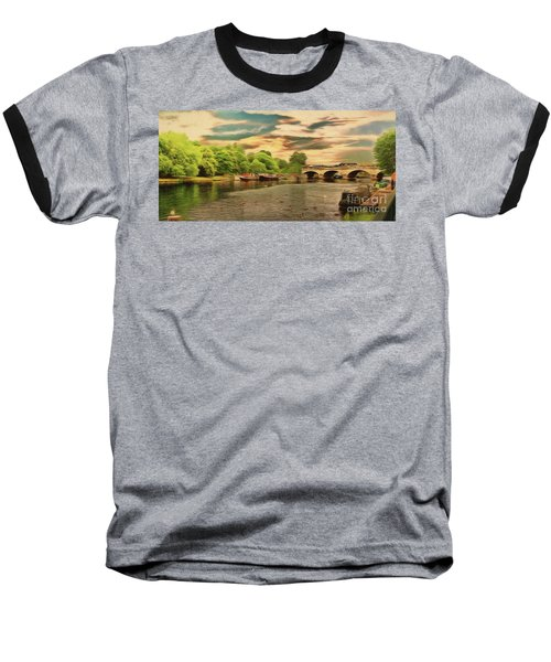 This Morning On The River Baseball T-Shirt
