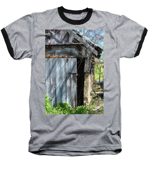 This Old Barn Door Baseball T-Shirt by Kathy Kelly