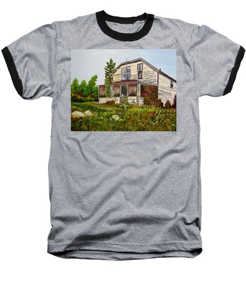 Baseball T-Shirt featuring the painting This Old House by Marilyn  McNish