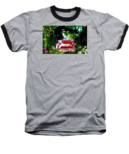 Baseball T-Shirt featuring the mixed media This Place Is Reserved For The Boss by Gabriella Weninger - David