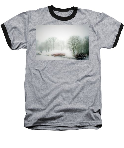 This Small Bridge, Located On A Golf Course, Always Provides A Scenic View. When A December Blizzard Baseball T-Shirt