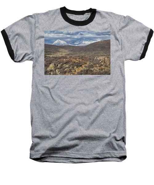 This Way To The Mountains Baseball T-Shirt