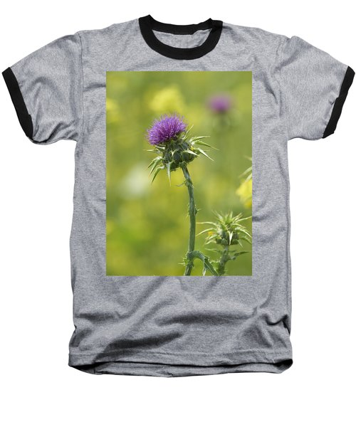 Baseball T-Shirt featuring the photograph Thistle And Mustard by Doug Herr