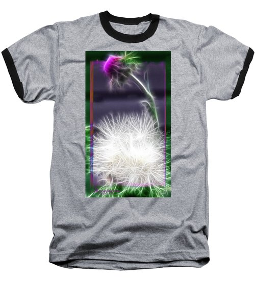 Baseball T-Shirt featuring the photograph Thistle by EricaMaxine  Price