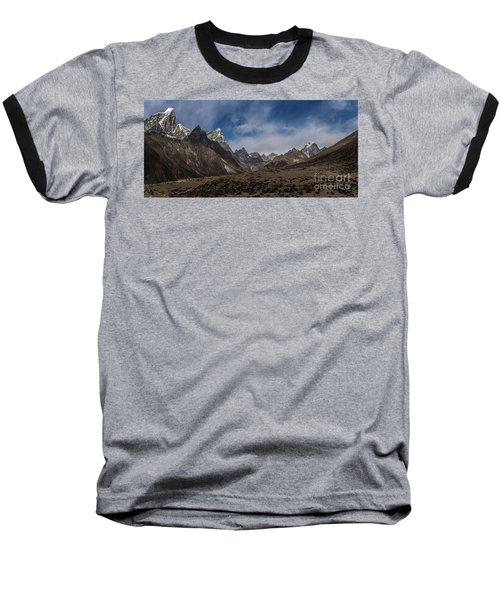 Baseball T-Shirt featuring the photograph Thokla Pass Nepal by Mike Reid