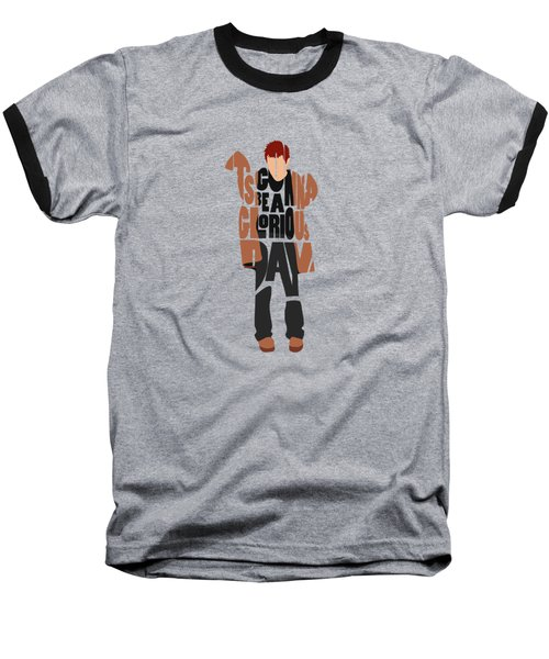 Thom Yorke Typography Art Baseball T-Shirt