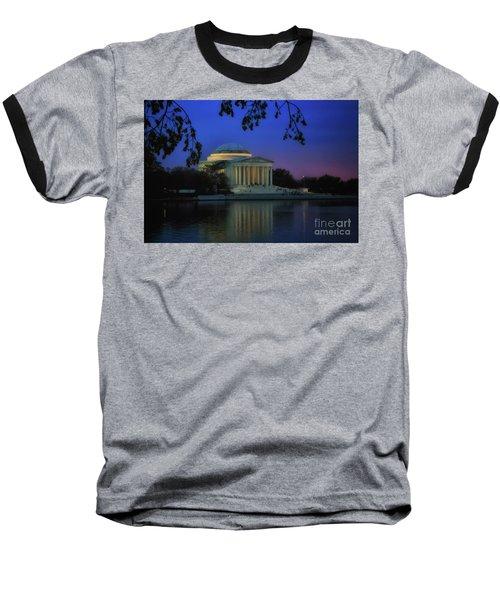 Thomas Jefferson Memorial Sunset Baseball T-Shirt