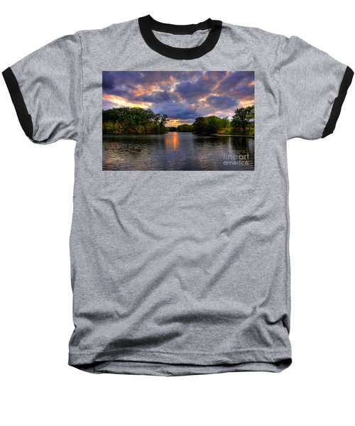 Thomas Lake Park In Eagan On A Glorious Summer Evening Baseball T-Shirt