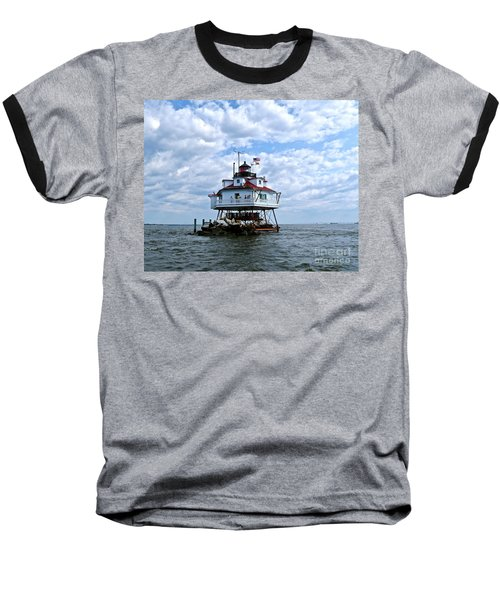 Thomas Point Lighthouse Baseball T-Shirt