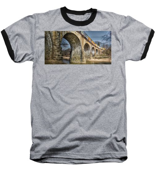 Thomas Viaduct Panoramic Baseball T-Shirt