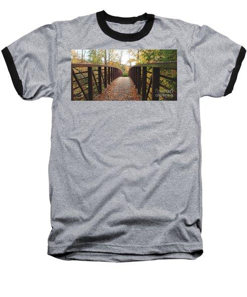 Thompson Park Bridge Stowe Vermont Baseball T-Shirt by Felipe Adan Lerma