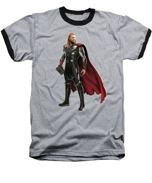 Baseball T-Shirt featuring the mixed media Thor Splash Super Hero Series by Movie Poster Prints