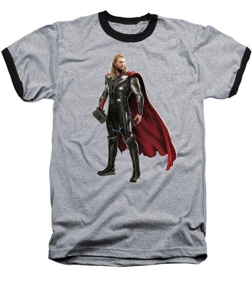Thor Splash Super Hero Series Baseball T-Shirt by Movie Poster Prints