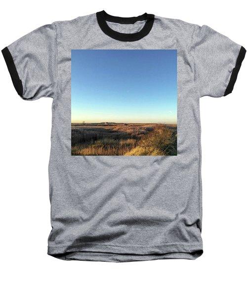 Thornham Marsh Lit By The Setting Sun Baseball T-Shirt