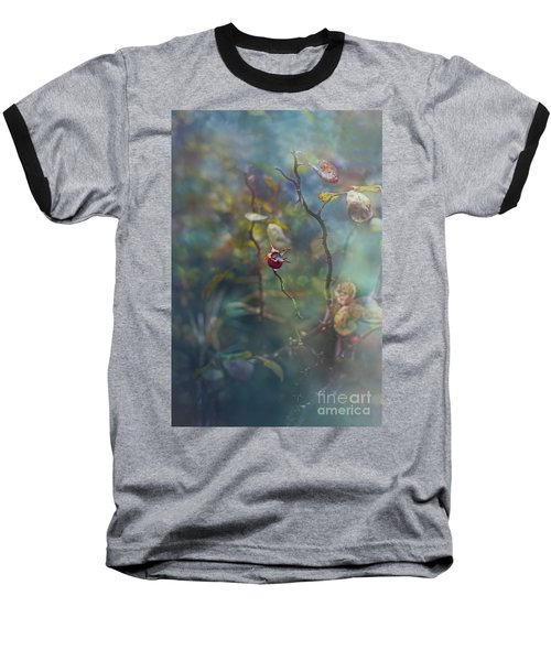 Thorns And Roses Baseball T-Shirt by Agnieszka Mlicka