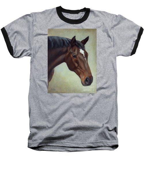 Thoroughbred Horse, Brown Bay Head Portrait Baseball T-Shirt