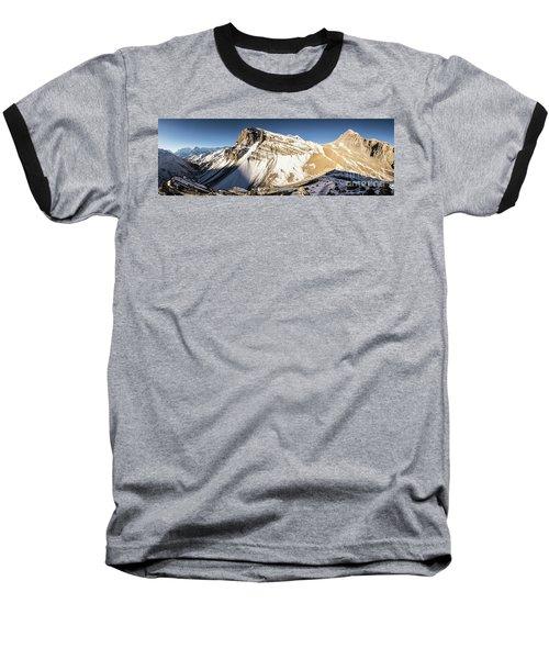 Thorung La Pass In The Annapurna Range In The Himalayas In Nepal Baseball T-Shirt