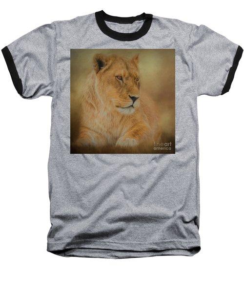 Thoughtful Lioness - Square Baseball T-Shirt