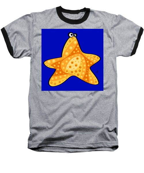 Baseball T-Shirt featuring the painting Thoughts And Colors Series Starfish by Veronica Minozzi