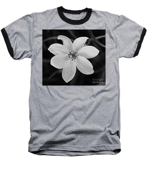 Threadleaf In Black And White Baseball T-Shirt