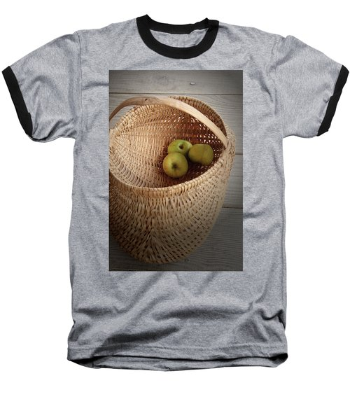 Baseball T-Shirt featuring the photograph Three Apples by Emanuel Tanjala