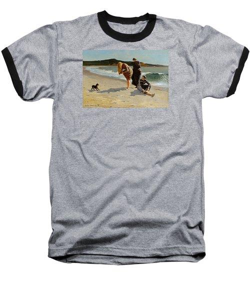 Three Bathers Baseball T-Shirt by  Newwwman