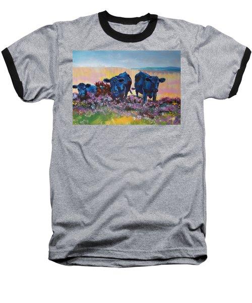 Three Black Cows On Dartmoor Baseball T-Shirt
