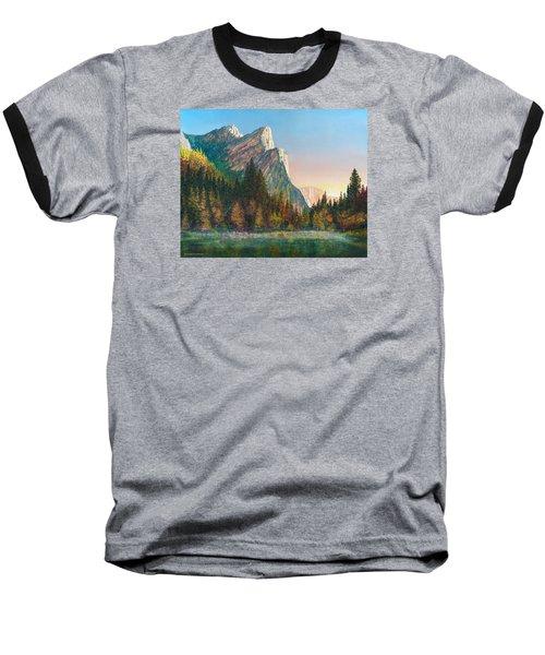 Three Brothers Morning Baseball T-Shirt by Douglas Castleman