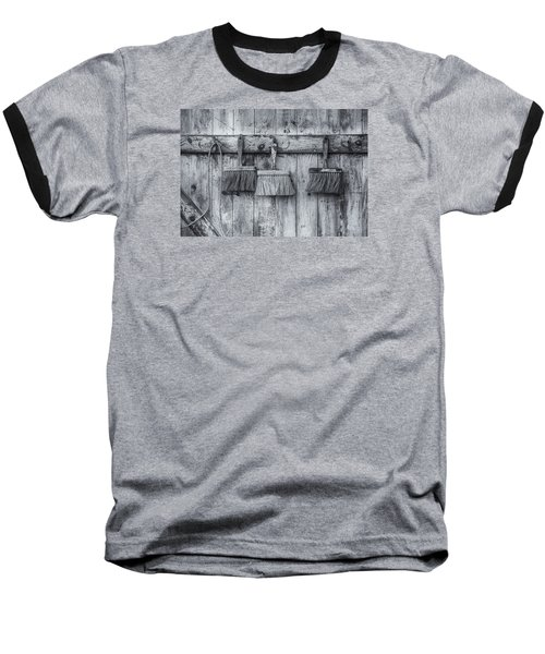 Baseball T-Shirt featuring the photograph Three Brushes Black And White by Tom Singleton