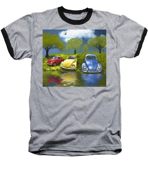 Three Bugs On A Hill Baseball T-Shirt
