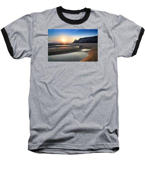 Three Cliffs Bay 2 Baseball T-Shirt