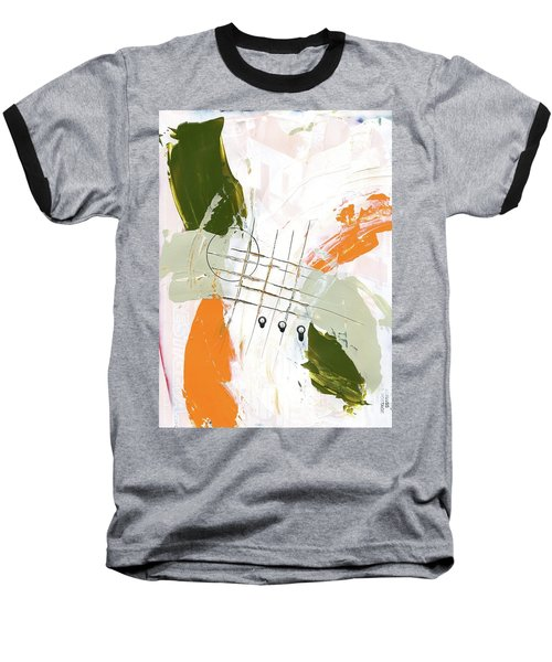 Baseball T-Shirt featuring the painting Three Color Palette Orange 3 by Michal Mitak Mahgerefteh