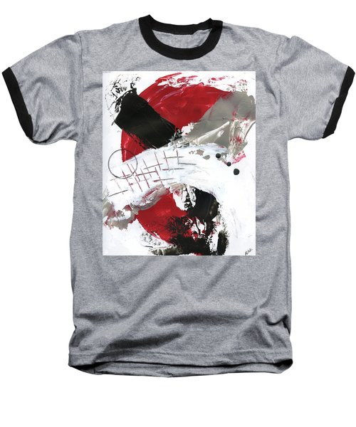Baseball T-Shirt featuring the painting Three Color Palette Red 2 by Michal Mitak Mahgerefteh