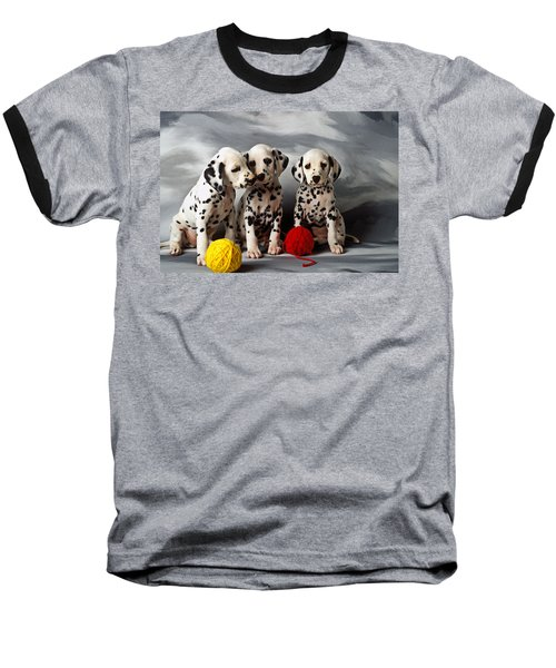 Three Dalmatian Puppies  Baseball T-Shirt