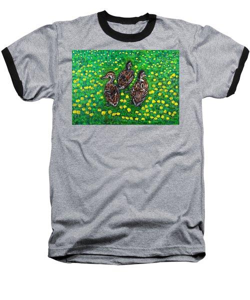 Three Ducklings Baseball T-Shirt