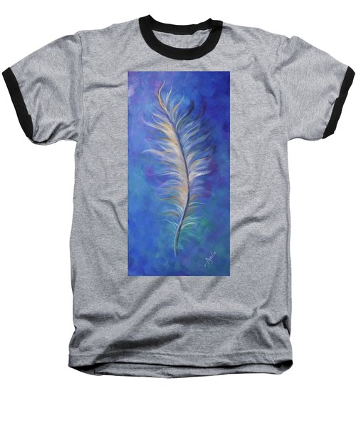 Three Feathers Triptych-right Panel Baseball T-Shirt