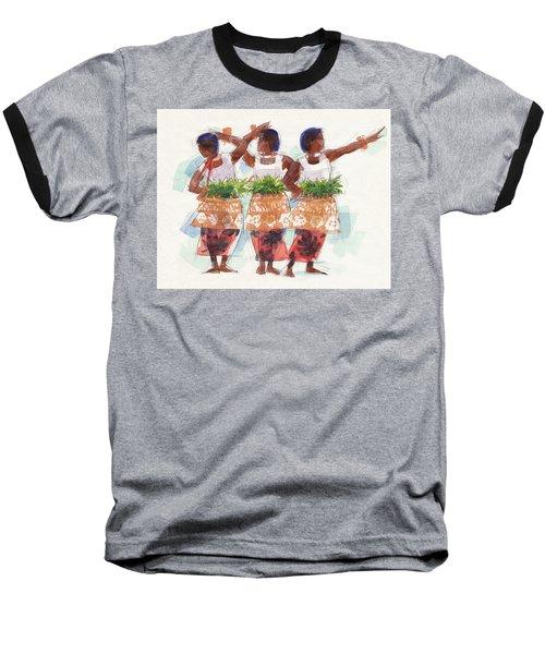 Three Fijian Dancers Baseball T-Shirt