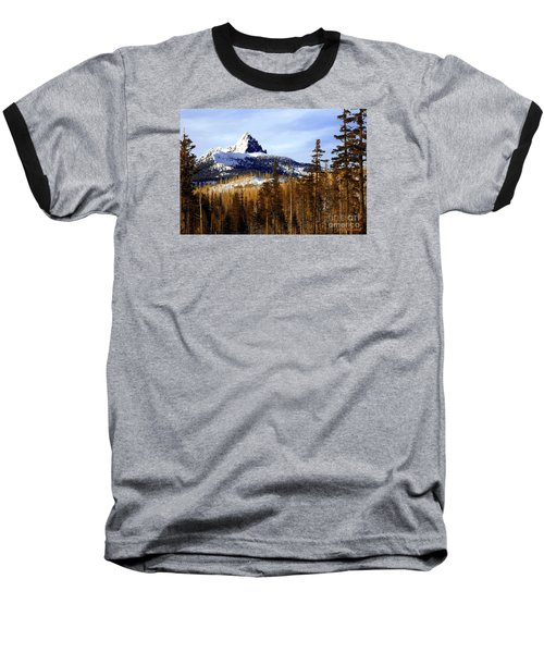 Three Fingered Jack Baseball T-Shirt by Steve Warnstaff