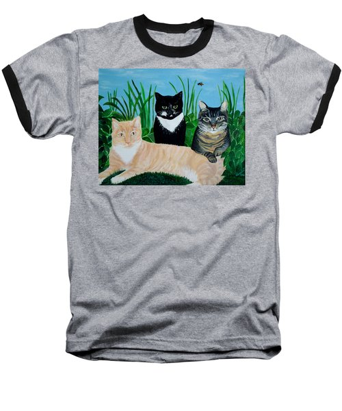 Three Furry Friends Baseball T-Shirt