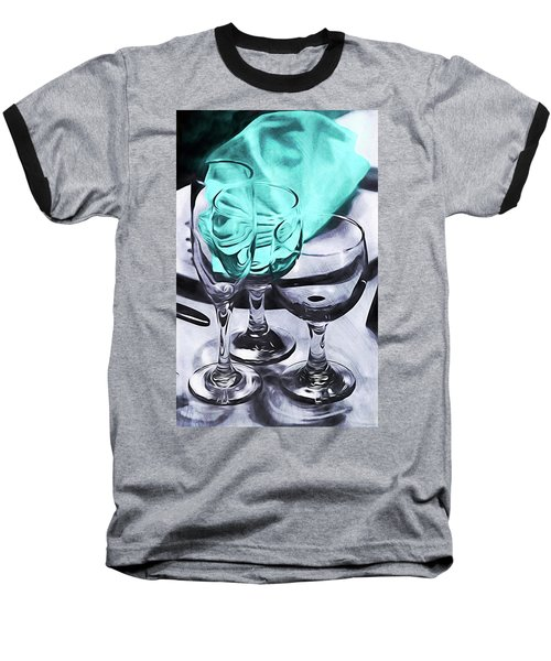 Three Glass Illusion Baseball T-Shirt
