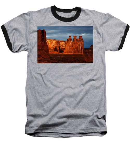 Baseball T-Shirt featuring the photograph Three Gossips by Harry Spitz