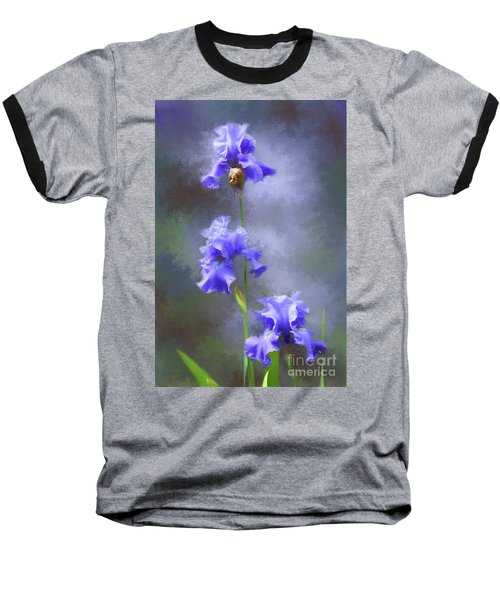 Three Iris Baseball T-Shirt by Lena Auxier