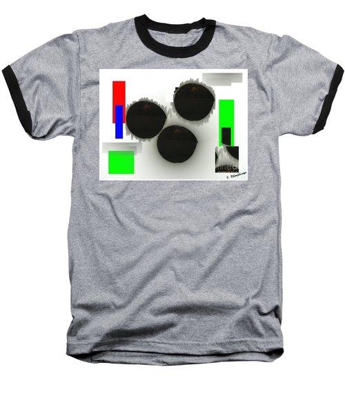 Three Is A Crowd Baseball T-Shirt