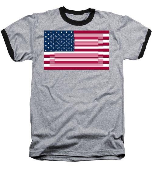 Three Layered Flag Baseball T-Shirt by David Bridburg