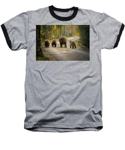 Three Little Bears And Mama Baseball T-Shirt